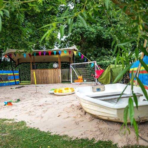 festival themed party beach