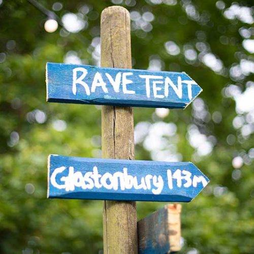 Rave tent signage