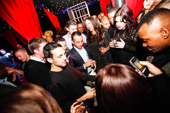 Dynamo entertaining guests at a private party