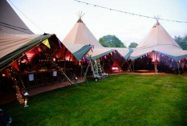 Tipi marquee for 50th Birthday Party
