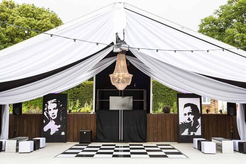 Clearspan structure 1920's themed party