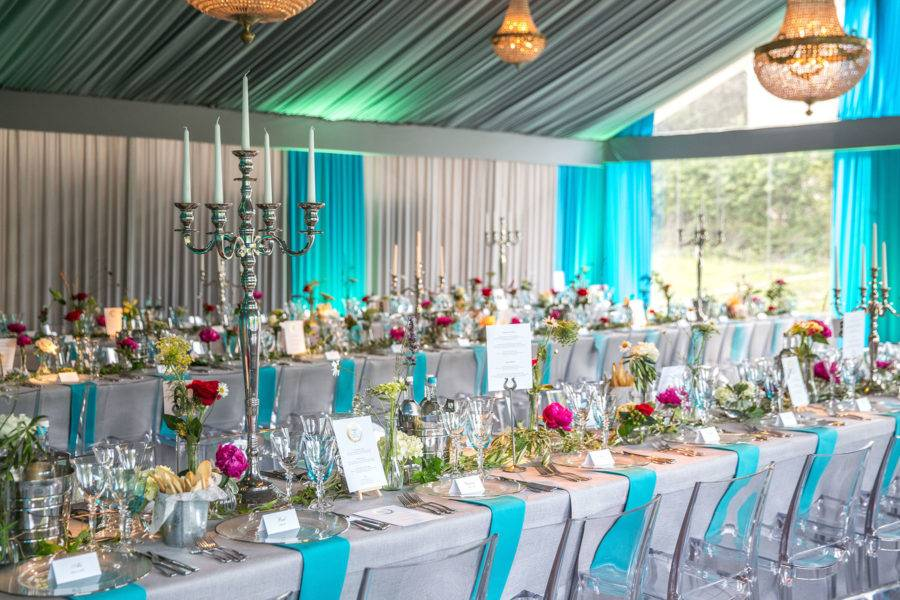 Styled marquee interior
