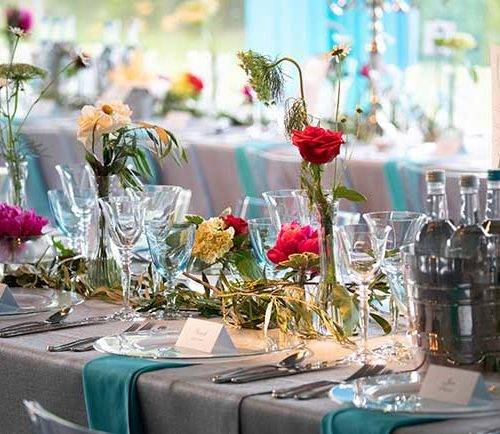 Floristry on tables