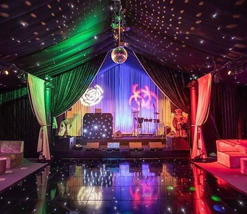 Interior of pop up nightclub
