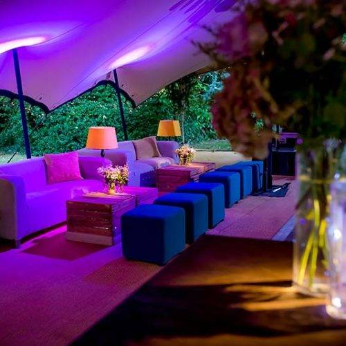 Party in a stretch marquee