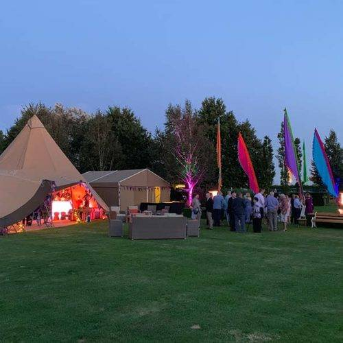 Party Tipis and flags