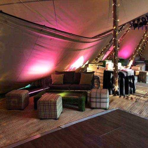 Tipi party styling