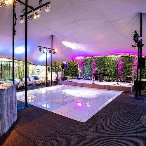 Dancefloor stretch tent