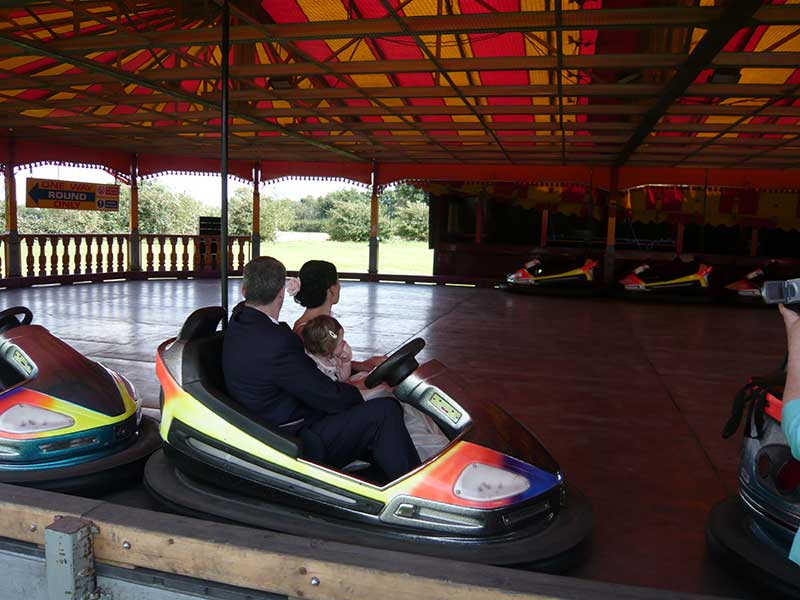 Wedding funfair bumper cars