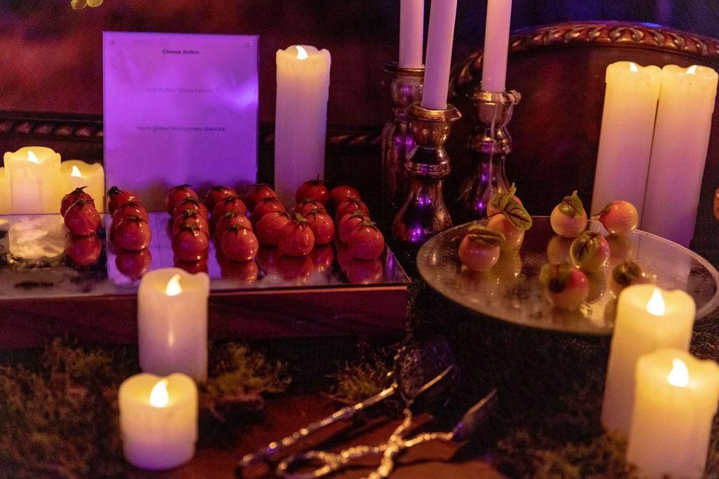 Trays of exquisite dessert canapés
