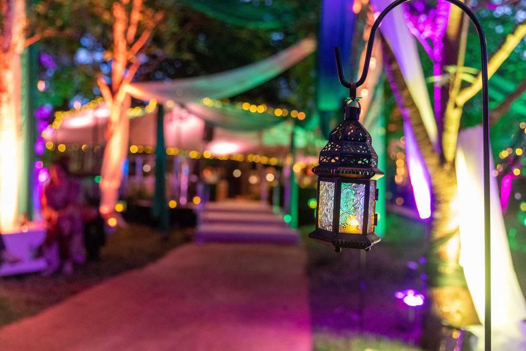 woodland lanterns party lighting